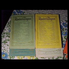 Four Old Reader's Digest - Red Tag Sale Item