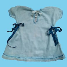 Blue Dress With Hand Stitched Trim For Child/Large Doll