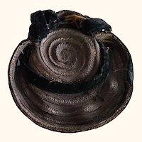 Black Antique Doll Hat