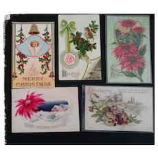 Victorian/Edwardian Post cards Christmas
