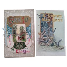 Victorian/Edwardian Post cards New Years