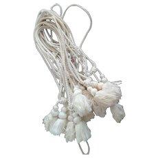 White Curtain/Drapery  Tiebacks