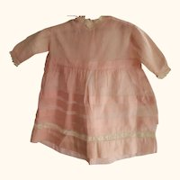Pink Doll Dress For Pudgy Toddler