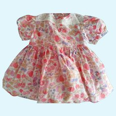 Dress For 40's or 50's Doll With Fruit and Leaves