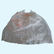 Petticoat With Ribbon Insertion Tucks and Lace