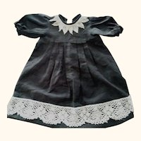 Black Doll Dress With Lace Trim