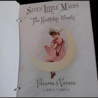 """Seven Little Maids"" Silk Fringed Edwardian Booklet"
