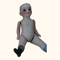 Tiny All Bisque Doll As Is
