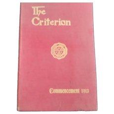 Yearbook From 1913 Bridgeport CT