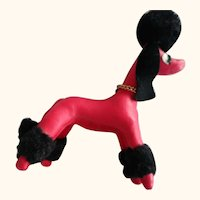 Red Poodle by Dakin 50's or 60's
