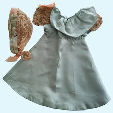 Silk Dress and Hat For Pattern or Display