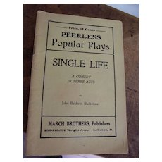 "Peerless Play ""Single Life"" Booklet"