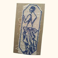 Embroidered Flapper For Trim