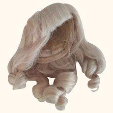 Human Hair Blonde Doll Wig