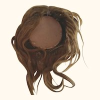 Hand Tied Old Human Hair Doll Wig