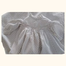 Polka Dot Hand and Machine Made Baby Doll or China Doll Dress