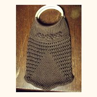 Brown Crocheted Purse