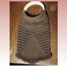 Brown Crocheted Purse