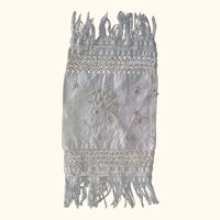 Doll's Pillowcase With Silk embroidery and Fringe