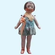 Tiny Bisque Flapper Doll