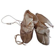 Beige Cloth Doll Shoes