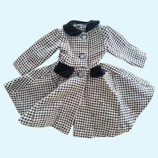 Black and White Wool Doll Coat