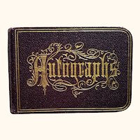 Small Edwardian Autograph Book