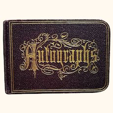 Small Edwardian Autograph Book