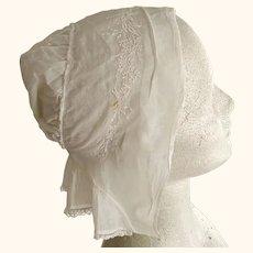 Victorian or Edwardian Fine Lawn Ladies Cap