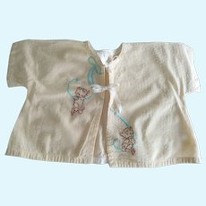 Baby Jacket With Kittens Good For Teddy Bear or Large Baby Doll