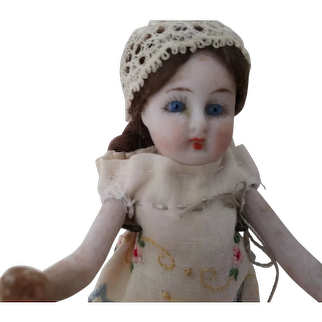 All Bisque Doll With Long Stockings