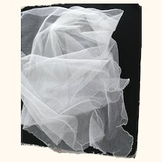 Piece of Tulle With Finished Edge