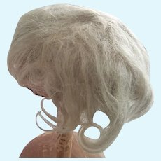 Hand-Tied Mohair Wig Off German Doll
