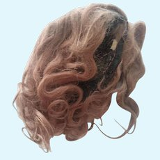 Brown Mohair Doll Wig