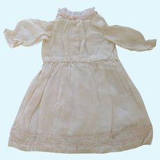 Hand Sewn Silk Small Doll Dress