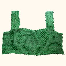 Green Crocheted Bodice For Dress or Nightgown