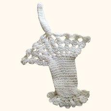White Crocheted Basket