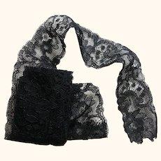 Early Black Lace Yardage