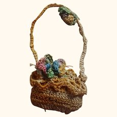 Small Crocheted Doll Purse or Basket