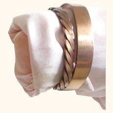 Two Vintage Copper Bracelets