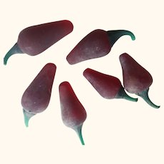 Solid Glass Peppers