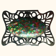 Art Deco Large Replated Brooch