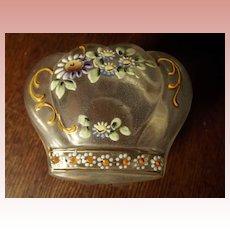 Victorian Satin Glass Hand Painted Jar