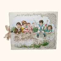 """Victorian Booklet """"Life's Merry Morning"""""""