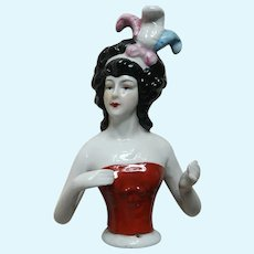 Large Pin Cushion Doll With Arms Away and Feathers