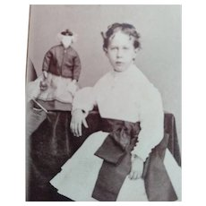 CDV of Child and French Doll