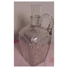 Pretty Cut Glass Wine Decanter