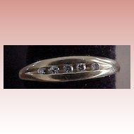 Channel Set Diamond Ring