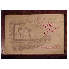 Album of Film Stars, Issued by Tobacco Company Early 1900's