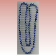 Dark Blue Long Glass Beads